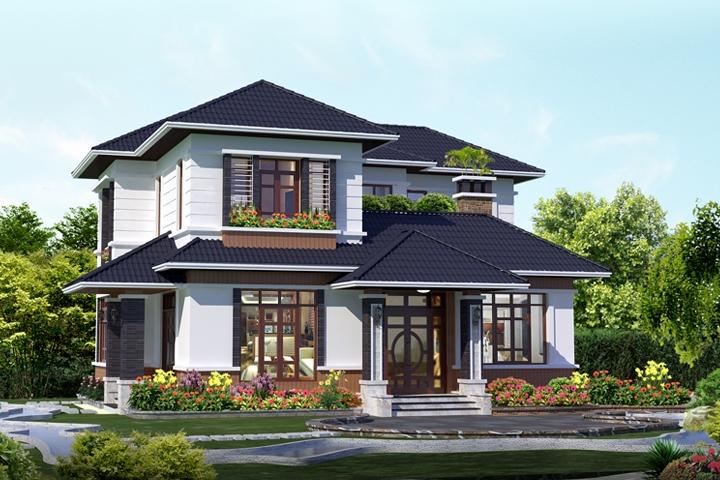 Biệt thự mái thái 2 tầng đẹp